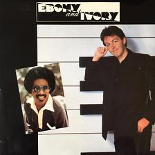 "PAUL MCCARTNEY WITH STEVIE WONDER - Ebony And Ivory (7"") (VG-/VG-)"