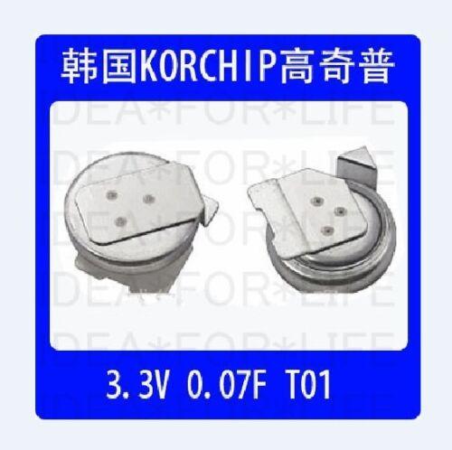 1pc KORCHIP T01 3.3V 0.07F SM3R3703T01 SMD SMT Super Capacitor #G2778 XH