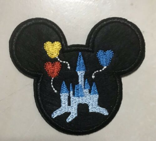 Mickey Mouse Disneyland-mundo-Castillo-hierro en apliques bordados Patch