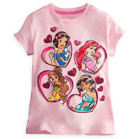 Disney Princess Short Sleeve Pink Tee For Girls - Size 2/3