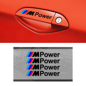 4Ps-M-Tech-Color-Power-Badge-Black-Door-Handle-Styling-Sticker-Emblems-Decal-S28