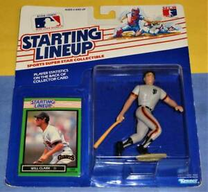 SAN FRANCISCO GIANTS 1989  WILL CLARK Kenner Starting Lineup Card