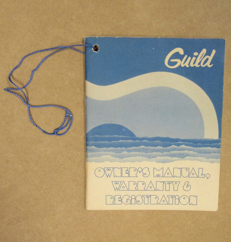 1979 Guild F-512NT Owners Manual, Warranty & Registration Hang Tag.