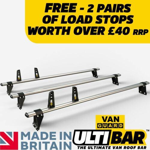 Ford Transit Roof Rack Pre 2014 Low Roof 3x Roof Bars Van Guard ULTI Bar