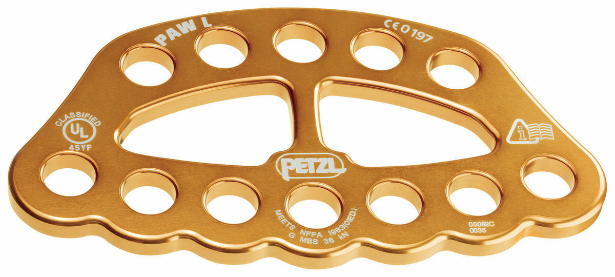 Paw L gold Large  Rigging Anchor Rig Plate Petzl  cheaper prices