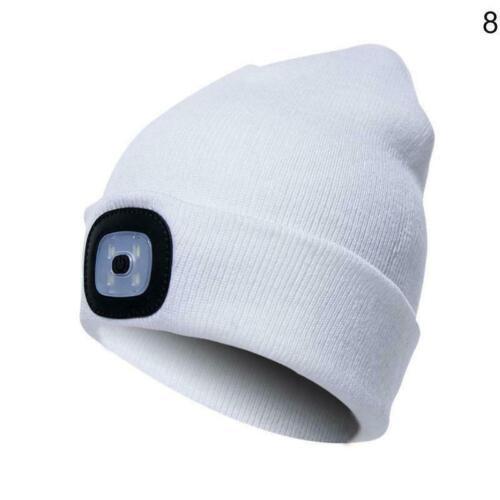 Unisex LED Beanie Hat USB Battery 5 Hours Powered Light High