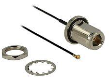 Delock Antennenkabel N Buchse zum Einbau>MHF/U.FL komp. Stecker 130mm 89430