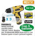 Trapano Avvitatore 3 Batterie LITIO 10,8V 1500 mAh Garanzia 3 Anni Professionale