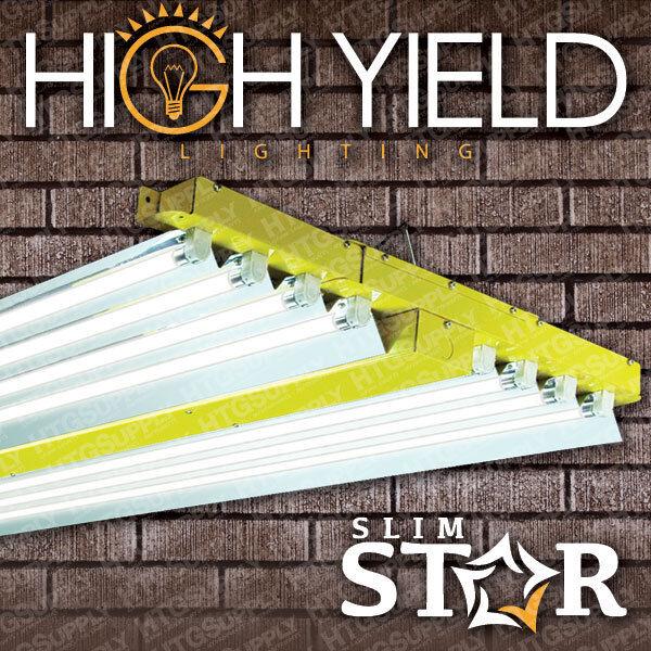 """T5 4 ft 8 LAMP GROW LIGHT 432w 48"""" HIGH OUTPUT FLUORESCENT BULB CHOICE VEG BLOOM"""