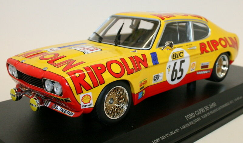 Minichamps 1/18 Diecast 155 728565 FORD CAPRI RS 2600 DEUTSCHLAND TOUR DE FRANCE