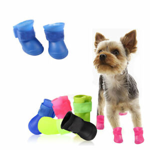 4Pcs-Pet-Waterproof-Rain-Shoes-Winter-Anti-slip-Boots-Socks-for-Small-Puppy-Dog