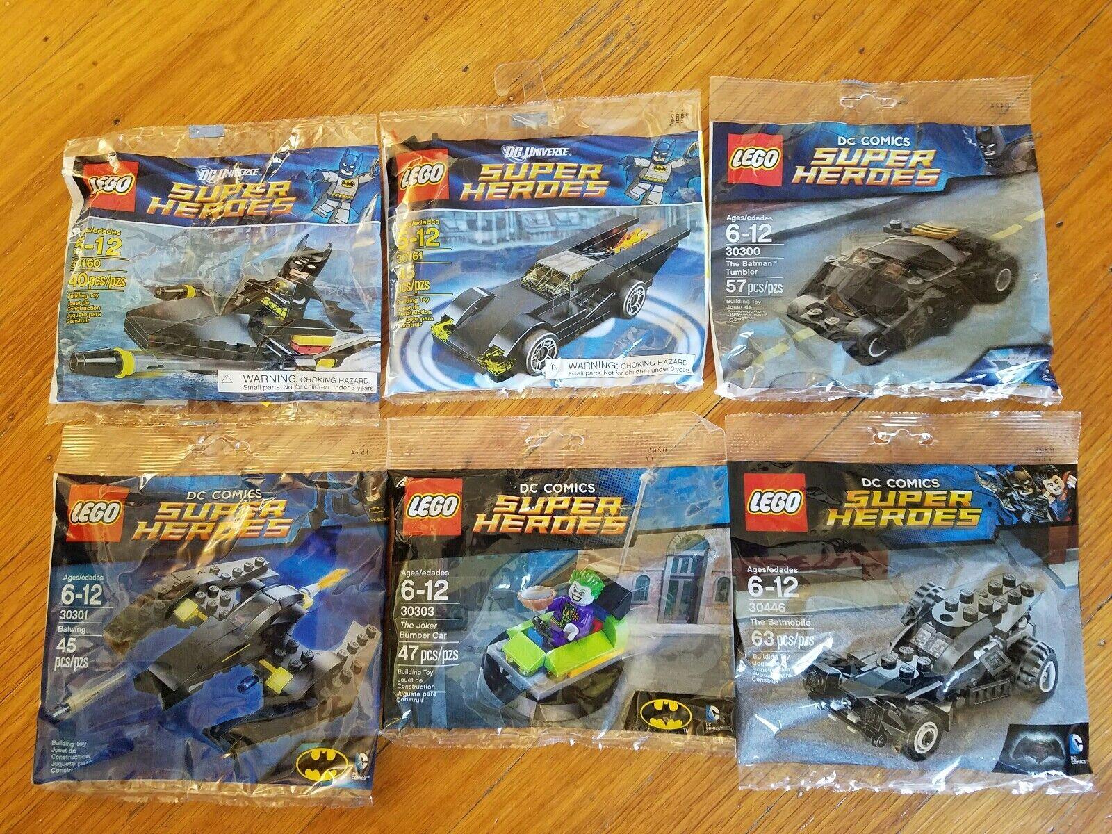 Lego Super Heroes Batman Polybag Lot (30160,30161,30300,30301,30303,30446) - NEW