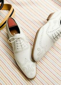 Derby fatte Scarpe su bianco a da misura mano formale per uomo abito Uw8qd