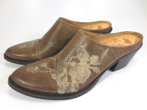 WE ARE italienische Edel Western Leder Schuhe Sabots Mules NEU 129,95