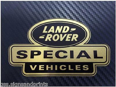 105X60MM GOLD X3 LAND ROVER DEFENDER DISCOVERY SPECIAL VEHICLES DECAL STICKER