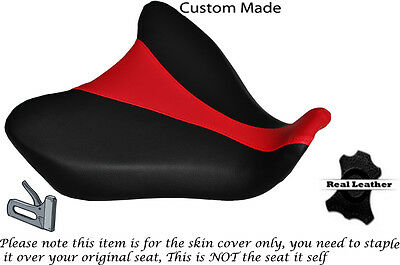 BLACK & BRIGHT RED DESIGN 2 CUSTOM FITS YAMAHA MT 07 13-15 FRONT SEAT COVER