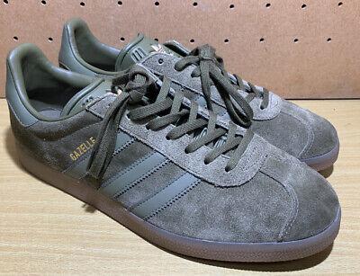 adidas Originals GAZELLE Cargo OLIVE Green Suede GOLD GUM Brown 10 Shoes BB5265 | eBay