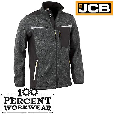 JCB Work Wear Trade Soft Shell Jacket Waterproof Breathable Zipped Pockets Black