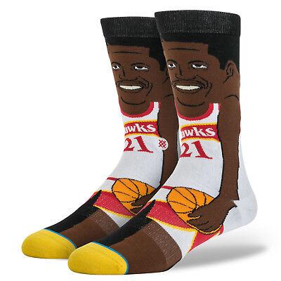 Dominique Wilkins Hawks Mens Crew Socks Stance NBA Legends L//XL NWT 9-13