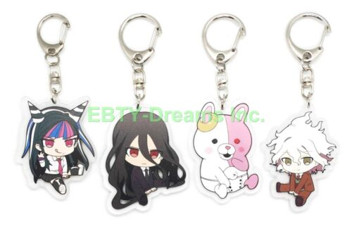 Set of 4 Danganronpa Anime Acrylic Keychain Monomi Izuru Ibuki Mioda Nagito