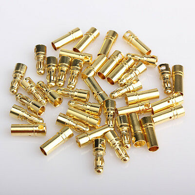 40x 3.5mm Gold-plated Bullet Banana Plug Connector RC Battery LS4G