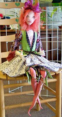 "71.1cm sitting /& 28/"" 45cm stand~cloth doll pattern CALLIOPE~Paula McGee~18/"""