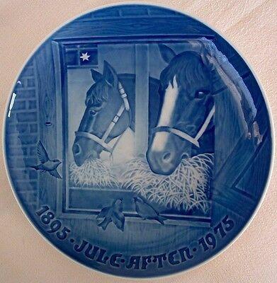 Bing Grondahl Plate 75 Christmas Night In The Stable Horses Copenhagen Denmark Ebay