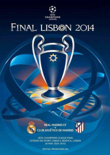 REAL MADRID v ATLETICO MADRID 2014 UEFA CHAMPIONS LEAGUE FINAL PROGRAMME