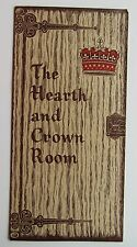 Restaurant Menu For The Hearth And Crown Room Holiday Inn Hotel Erie P.A.