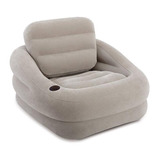 Sessel Sitzhocker Schlumpf Aufblasbar Intex 68587 Wohnzimmer Grau