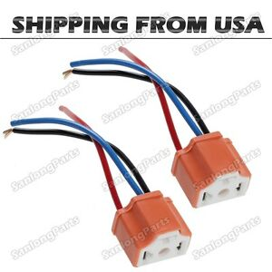 set 2 h4 9003 ceramic wiring harness connector socket for car image is loading set 2 h4 9003 ceramic wiring harness connector