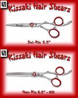 Kissaki 5.5 Hair Cutting Scissors & 40 Tooth Thinning Shears Satin Finish Combo