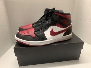 air jordan 1 mid rojo y negro