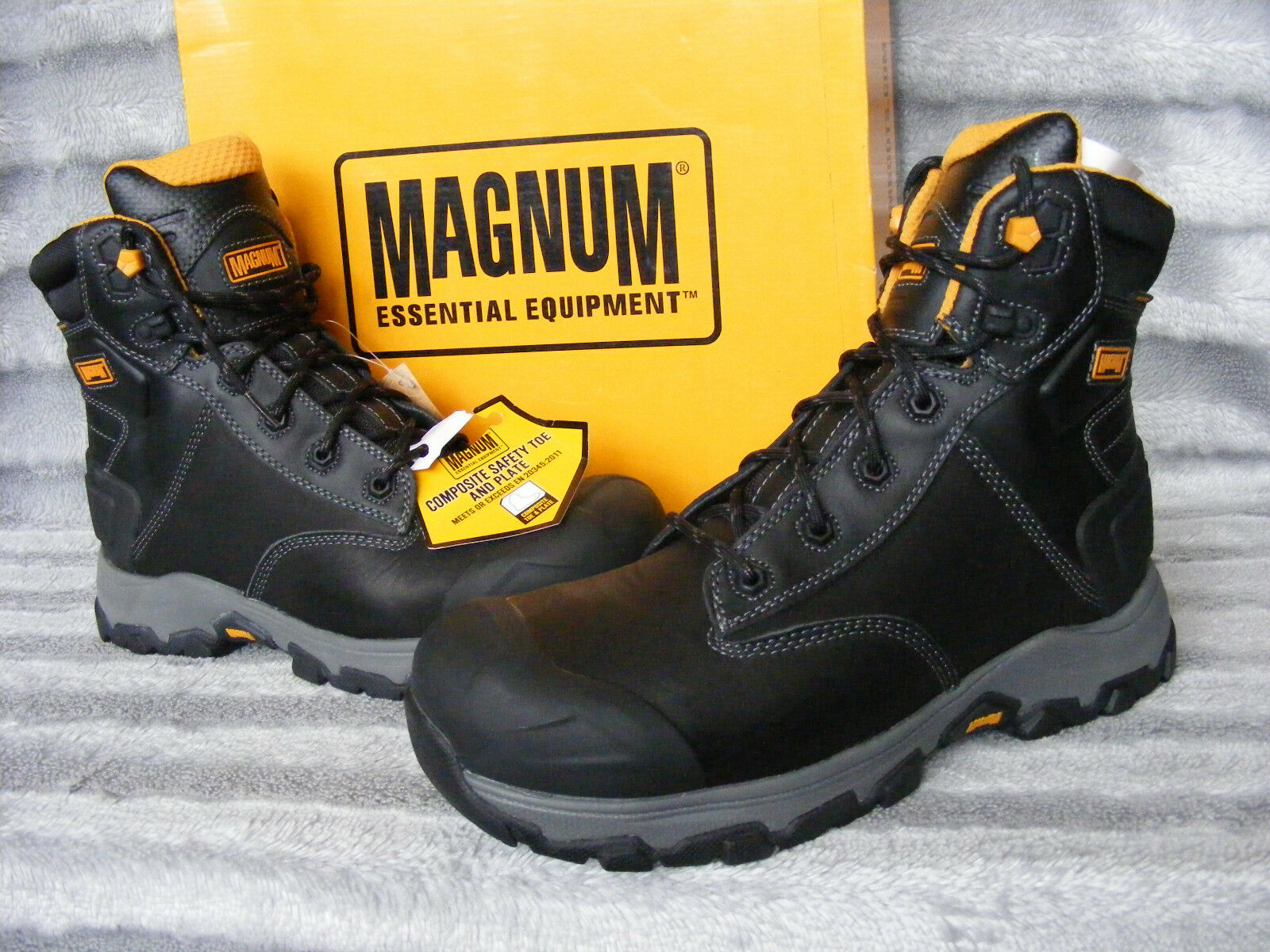 New Men's Magnum Hamburg 6.0 Composite Toe & Plate Safety Boots US 9