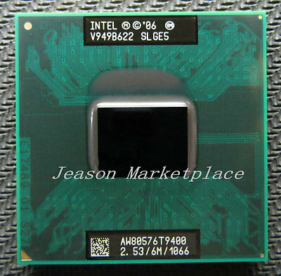 SLB46 6M //1066 MHz 2.53GHz Intel Core 2 Duo T9400 Notebook processor