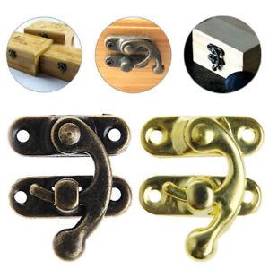 4PCS Antique Bronze Hasp Latch Jewelry Wooden Box Lock Cabinet  Case L JG