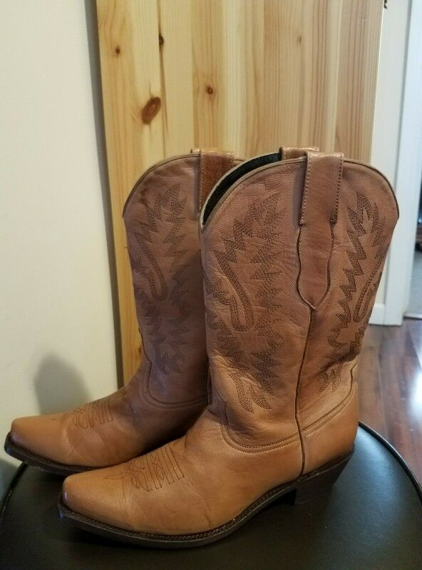Damenschuhe Pecos Bill Western made Stiefel Größe 8 1/2 made Western in Mexico c6ab69
