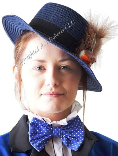 Mary Poppins Returns BLUE TRILBY HAT with ROBIN /& FEATHER DETAIL World Book Day