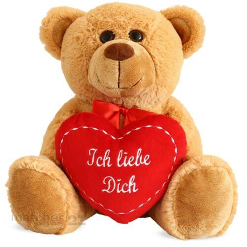 matches21 Teddybär Teddy Herz Ich liebe Dich Herzteddy Plüschbär braun 35 cm