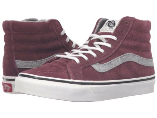 f993c6aca7 1 of 3FREE Shipping VANS Sk8 Hi Slim (Vintage Suede) Red Mahogany Skate  MEN S 7.5 WOMEN S 9