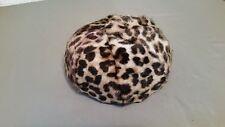vintage faux leopard hat NOS
