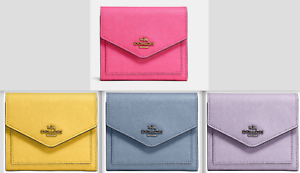 New-COACH-Small-Wallet-in-Crossgrain-Leather-choose-you-color