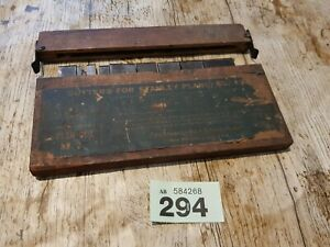 Set of Cutters for Stanley Plane No 45 oringnal box, used  set 2