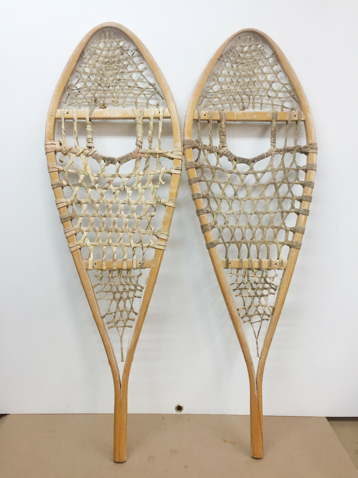 Old Antique Vintage Indian Made 14   X 42  Snowshoes For Decor Or Arts And Craft  there are more brands of high-quality goods