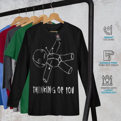 Horror Graphic Design Wellcoda You Voodoo Doll Mens Long Sleeve T-shirt