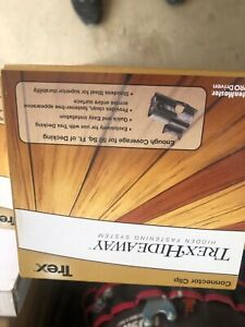 Box of 90 Trex Hideaway Steel Fasteners with Screws