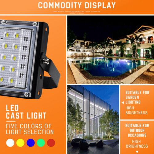 Remote 50W RGB LED Flood Light Waterproof Landscape Spotlight Floodlight Lamp