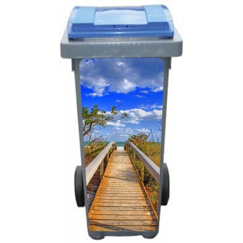 Pegatinas cubo basura decoración hacia el playa 3237 Arte Decoración pegatinas