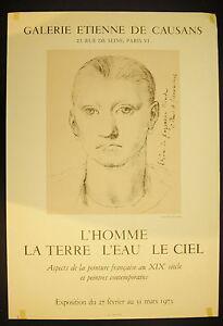 Affiche-exposition-Galerie-Etienne-de-Causans-1973-Peinture-du-XIX-th