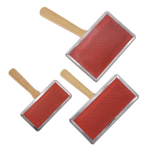 Handle Shedding Wool Carding Combs Hand Carders Felting Preparation Pet Brush
